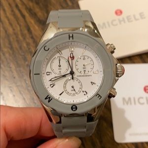 MICHELE TAHITIAN JELLY BEAN WHITE/SILVER WATCH